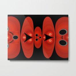 Red Geranium Color 2 Metal Print
