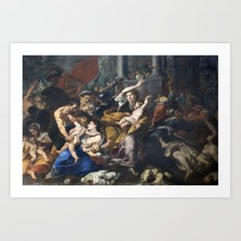 Milan - paint of Massacre of the Innocents from San Eustorgio church Art Print