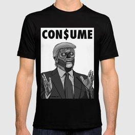 CON$UME: DONALD TRUMP (black and white) T-shirt