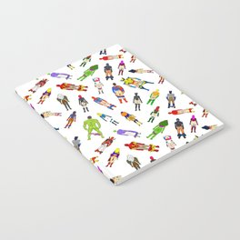 Superhero Butts with Villians - Light Pattern Notebook