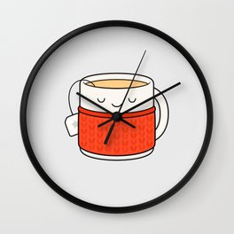 Keep warm, drink tea! Wall Clock