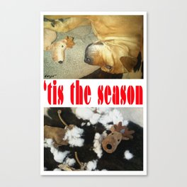 """ 'tis the season "" from the photo series""My dog, PLaY-DoH"" Canvas Print"