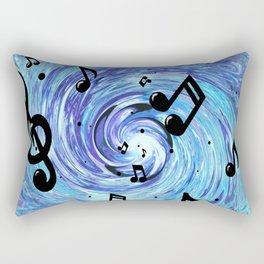 Musical Blue Rectangular Pillow