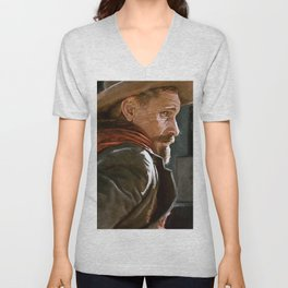 The Gunslinger - The Cowboy - The Dead Unisex V-Neck
