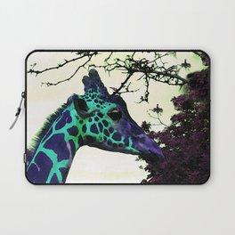 Alien Giraffe Has Landed Laptop Sleeve
