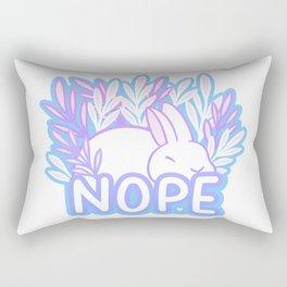 Nope // Tired Bunny Rectangular Pillow