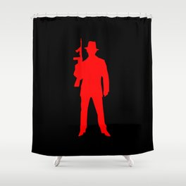 mafia silhouette Shower Curtain