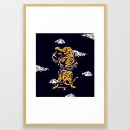 Tiger vs Snake Framed Art Print