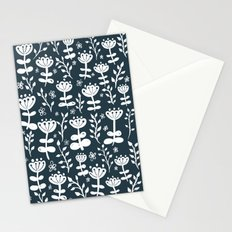 Navy Blooms Stationery Cards