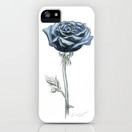 Rose 03 Botanical Flower * Blue Black Rose : Love, Honor, Faith, Beauty, Passion, Devotion & Wisdom iPhone Case