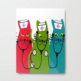 Nurse Cats Metal Print