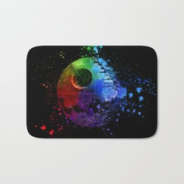Death Star Abstract Painting - Colorful StarWars Art Bath Mat
