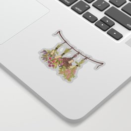 Herbs in Pastel Colors . Sticker