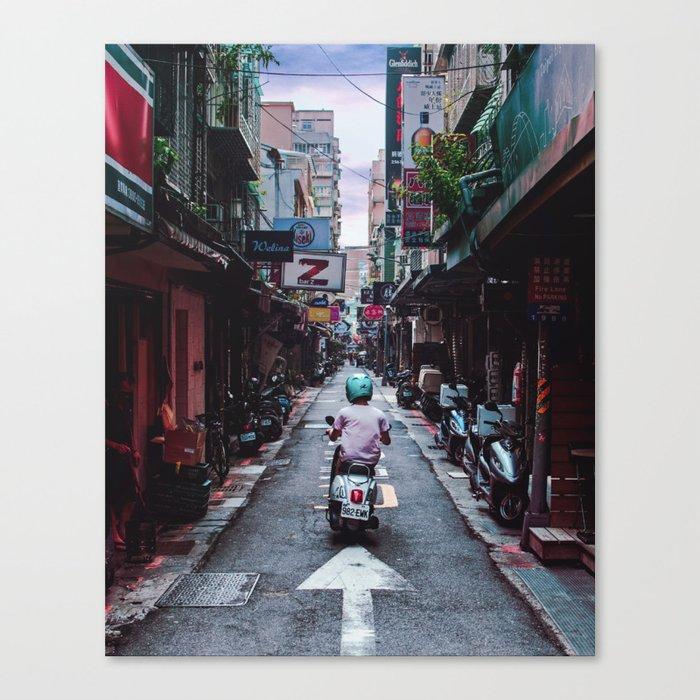 Lin Sen Scooter Canvas Print