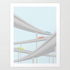 MOTORVEJSKRYDS Art Print