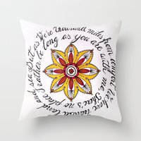 miles davis Throw Pillows featuring miles away by Let's Chalk