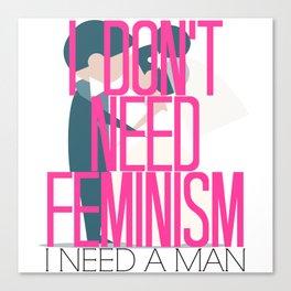 Feminism Brush-Off Canvas Print