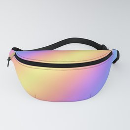 Colorful Gradient Abstract Rainbow Pattern Holographic Foil Fanny Pack