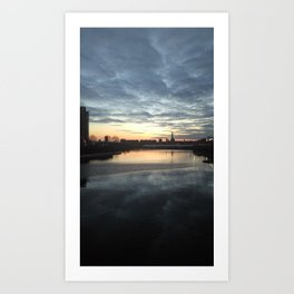 SUNSET, CLOUDS AND THE SHARD, LONDON Art Print