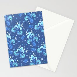 fleur de otachi - dark Stationery Cards