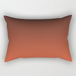 Black and orange. Gradient.  Ombre. Rectangular Pillow