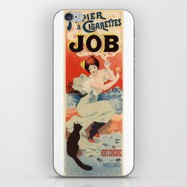 Belle Epoque vintage poster, Job iPhone Skin