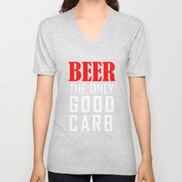 Beer The Only Good Carb T-shirt Unisex V-Neck