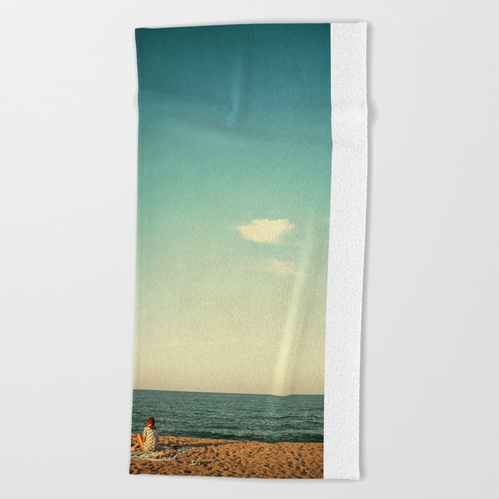 Before the sunset Beach Towel