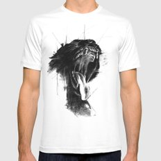 The Untamed White MEDIUM Mens Fitted Tee