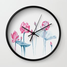 LOTUSES TRIANGLE Wall Clock