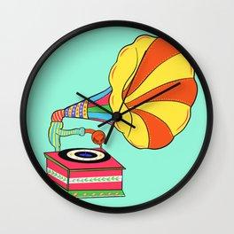 Gramophone truck art Wall Clock