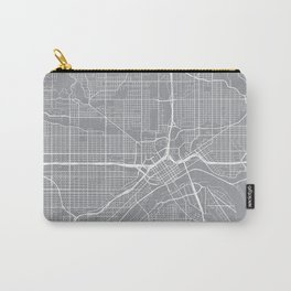 St Paul Map, Minnesota USA - Pewter Carry-All Pouch