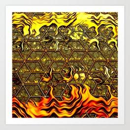 Psychedelic Honeycomb Art Print