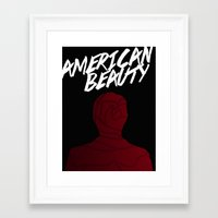 american beauty Framed Art Prints featuring American Beauty by Bryanna Moore