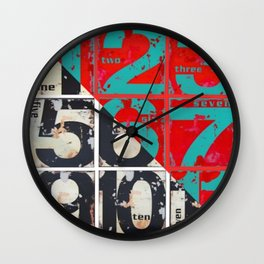 numbers design 3 Wall Clock