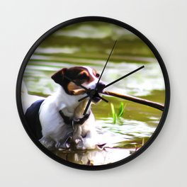 Dog Jack Russel Wall Clock