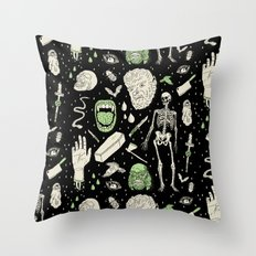 Whole Lotta Horror: BLK ed. Throw Pillow