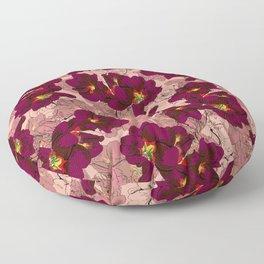 Hibiscus Wine Floor Pillow