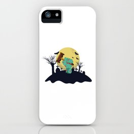 Zombie Hand With Judges Gavel Funny Halloween Costume product iPhone Case