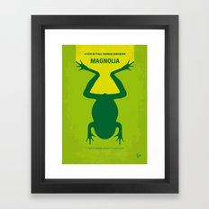 No159 My MAGNOLIA minimal movie poster Framed Art Print