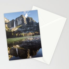 Sunrise over Yosemite Falls Stationery Cards