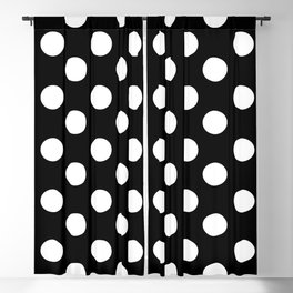 Polka Dot (White & Black Pattern) Blackout Curtain