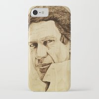 steve mcqueen iPhone & iPod Cases featuring Steve McQueen by Farinaz K.