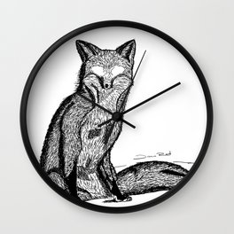 FOX EYES Wall Clock