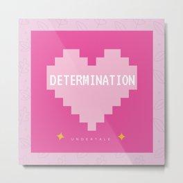 Pink Kawaii Undertale Determination pixel heart Metal Print