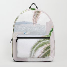 Milos 0004: Bougainvillea, Pollonia, Milos, Greece Backpack