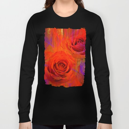 On fire with Roses Long Sleeve T-shirt