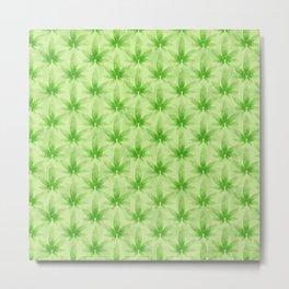 Marijuana leaf pattern Metal Print