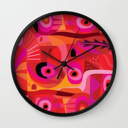 Rosa Mexicana Wall Clock