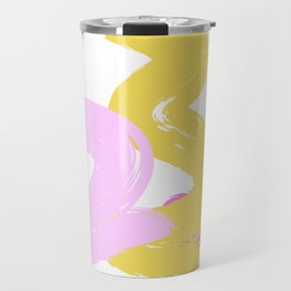 Brushes Pink and Yellow Candy Travel Mug